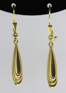 Vintage 9ct Yellow Gold Drop Earrings