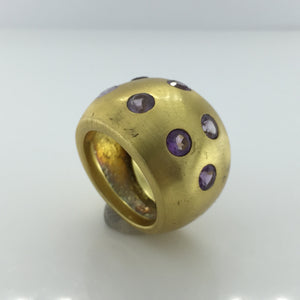 Gold Plated Sterling Silver Amethyst Ring