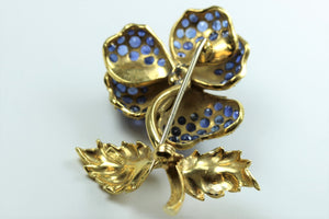Gold and Sapphire Brooch