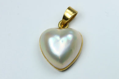Mabe Pearl Heart Pendant