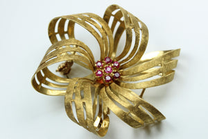 Ruby and Gold Brooch