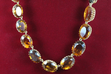 Madeira Citrine Victorian Necklace
