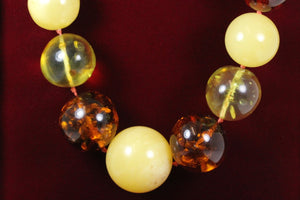 Graduated Baltic Amber Beaded Necklace