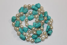 Natural Turquoise and Pearl Necklace