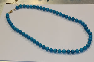Deep Blue Turquoise Necklace