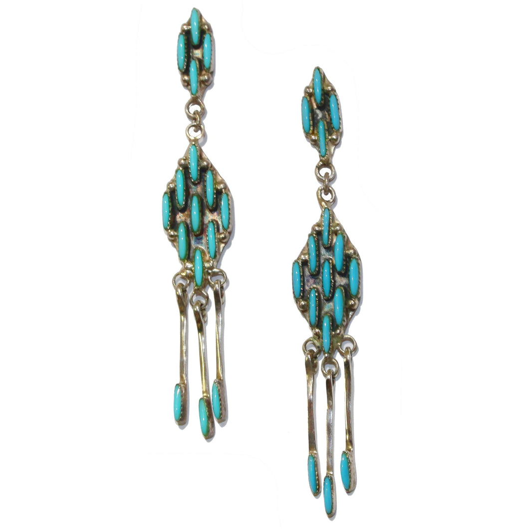 Antique Zuni Turquoise Earrings