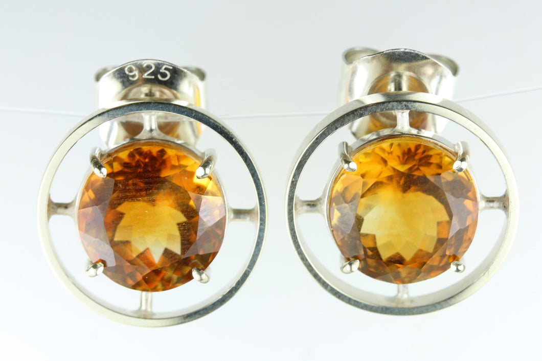 Citrine Circle Earrings