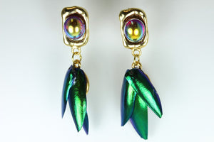 Cicada Wing Drop Earrings