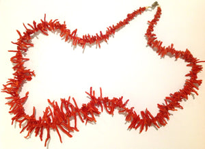 Antique Undyed Mediterranean Branch Coral Necklace