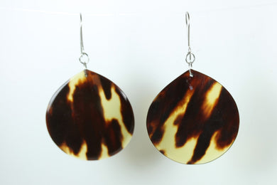 Tortoise Shell hook Earrings