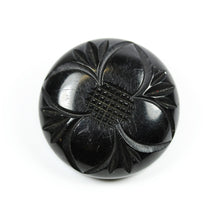 Art Nouveau Black Whitby Jet brooch