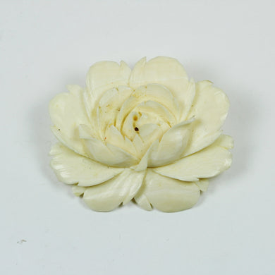 Hand Carved Antique Ivory Flower Blossom