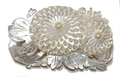 Mother of Pearl Floral Brooch