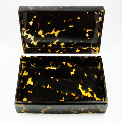 Vintage Rectangular Tortoise Shell Box