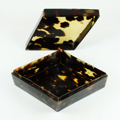 Vintage Diamond Shaped Tortoise Shell Box
