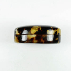 Vintage Oval Tortoise Shell Box