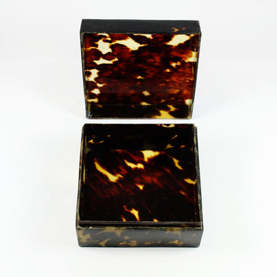 Vintage Square Shaped Tortoise Shell Box