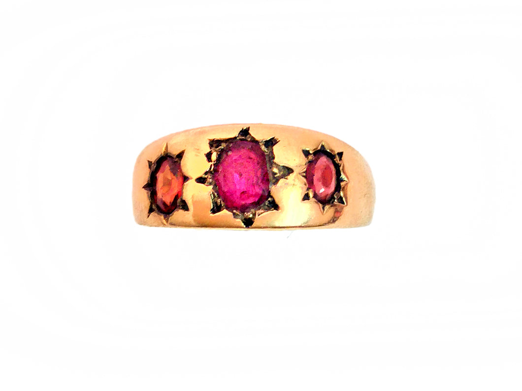 Victorian Ruby and Gold Dress Ring