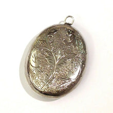 Antique Silver Locket with Beautiful Engraving