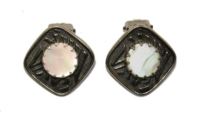 Vintage Mother of Pearl Clip-On's