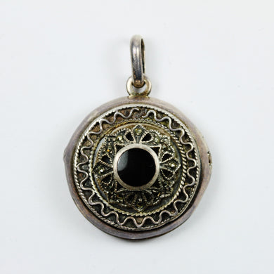 Sterling Silver Onyx Locket