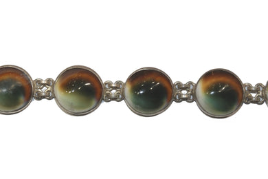 Sterling Silver Cat's Eye Bracelet