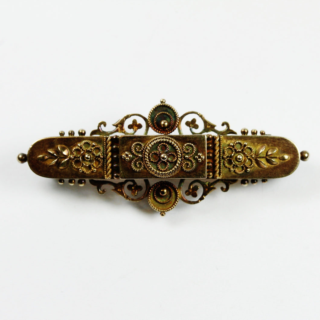 15ct Yellow Gold Victorian Brooch and Pendant