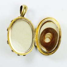 18ct Yellow Gold Georgian Mourning Locket with Rope Embellishment