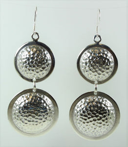 Sterling Silver Drop Modernist Earrings