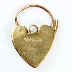 9ct Gold Lock and Key Heart Pendant