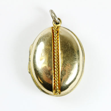 9ct Gold Plated Locket with Rope Detail