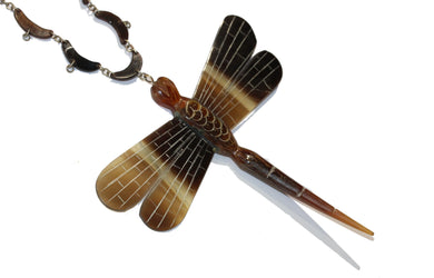 Tortoiseshell Dragonfly Necklace