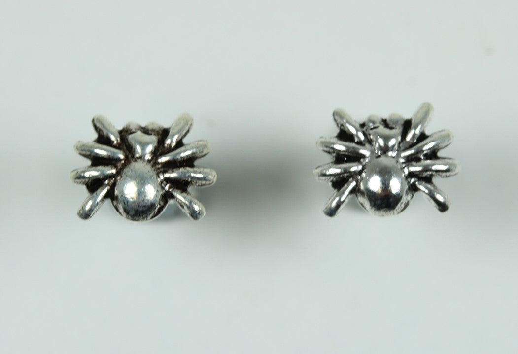 Sterling Silver Stud Spiderling Earrings