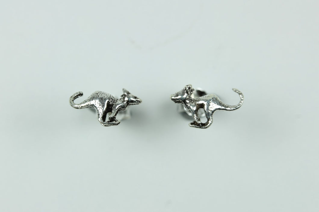 Sterling Silver Stud Kangaroo Earrings