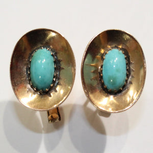 Rose Gold and Nevada Turquoise Cufflinks
