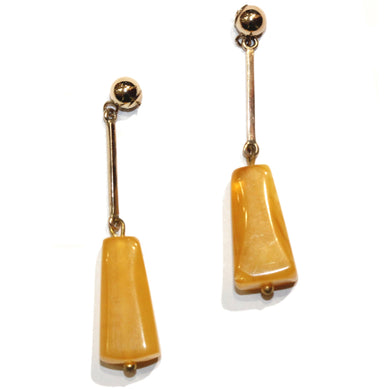 9ct Butterscotch Amber Drops