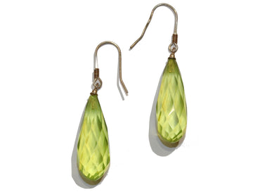 Vintage Green Amber Earrings