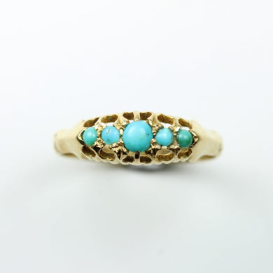 18ct Gold Turquoise Victorian Ring