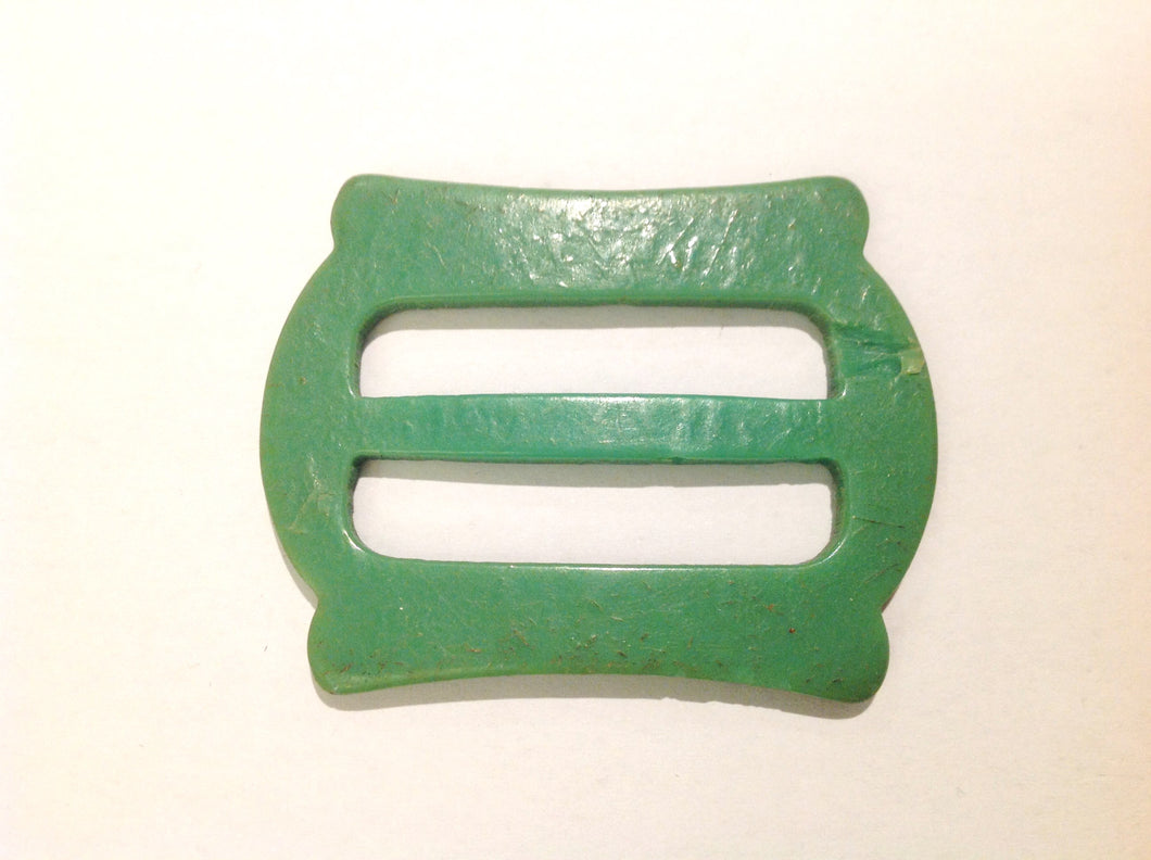 Green Resin Vintage Buckle