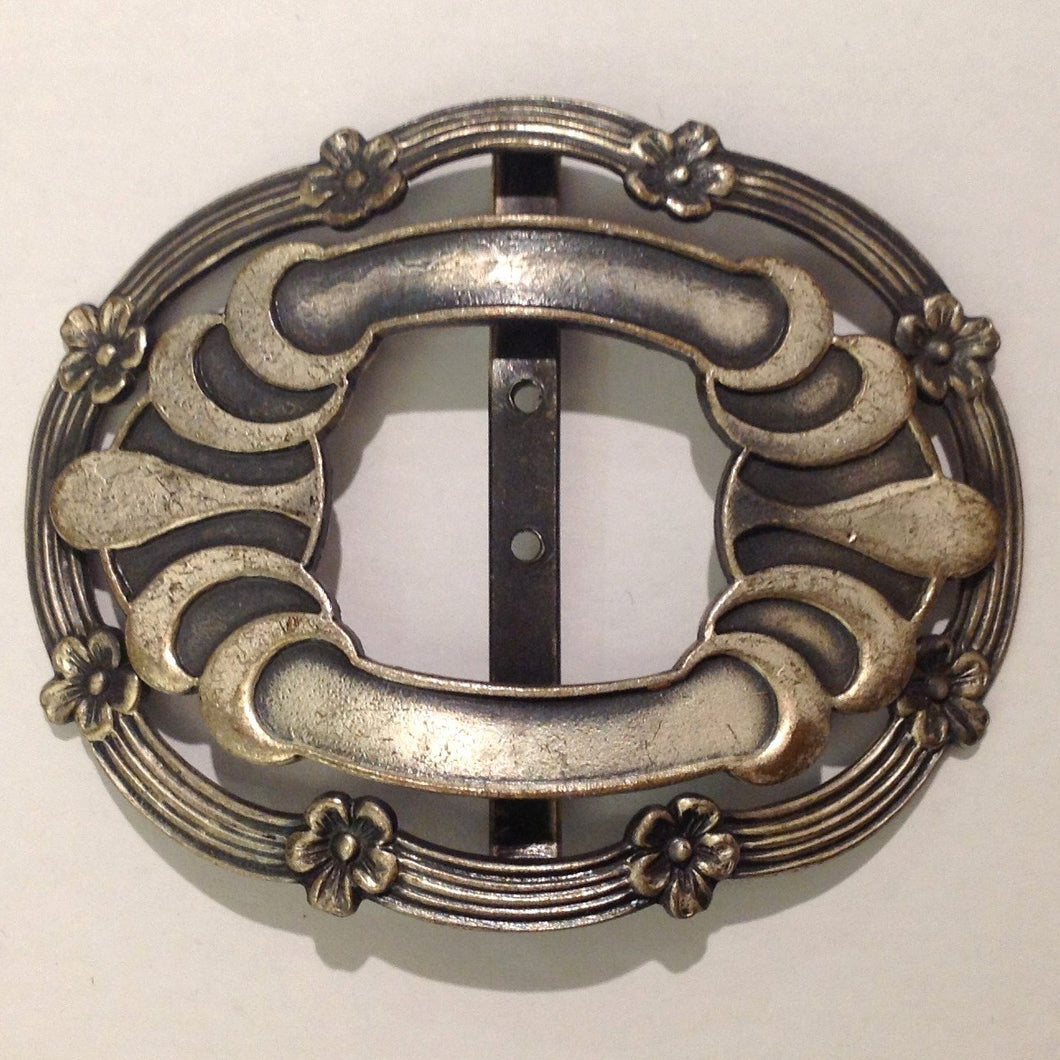 Antique Silver Belt Buckle