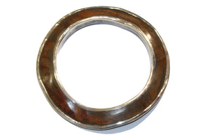 Vintage Wood and Silver Bangle