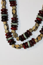 Vintage Wood and Glass Necklace