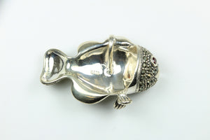 Sterling Silver Marcasite Tropical Fish Pendant