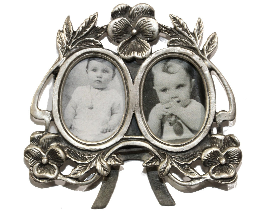 Sterling Silver Twin Photo Frame