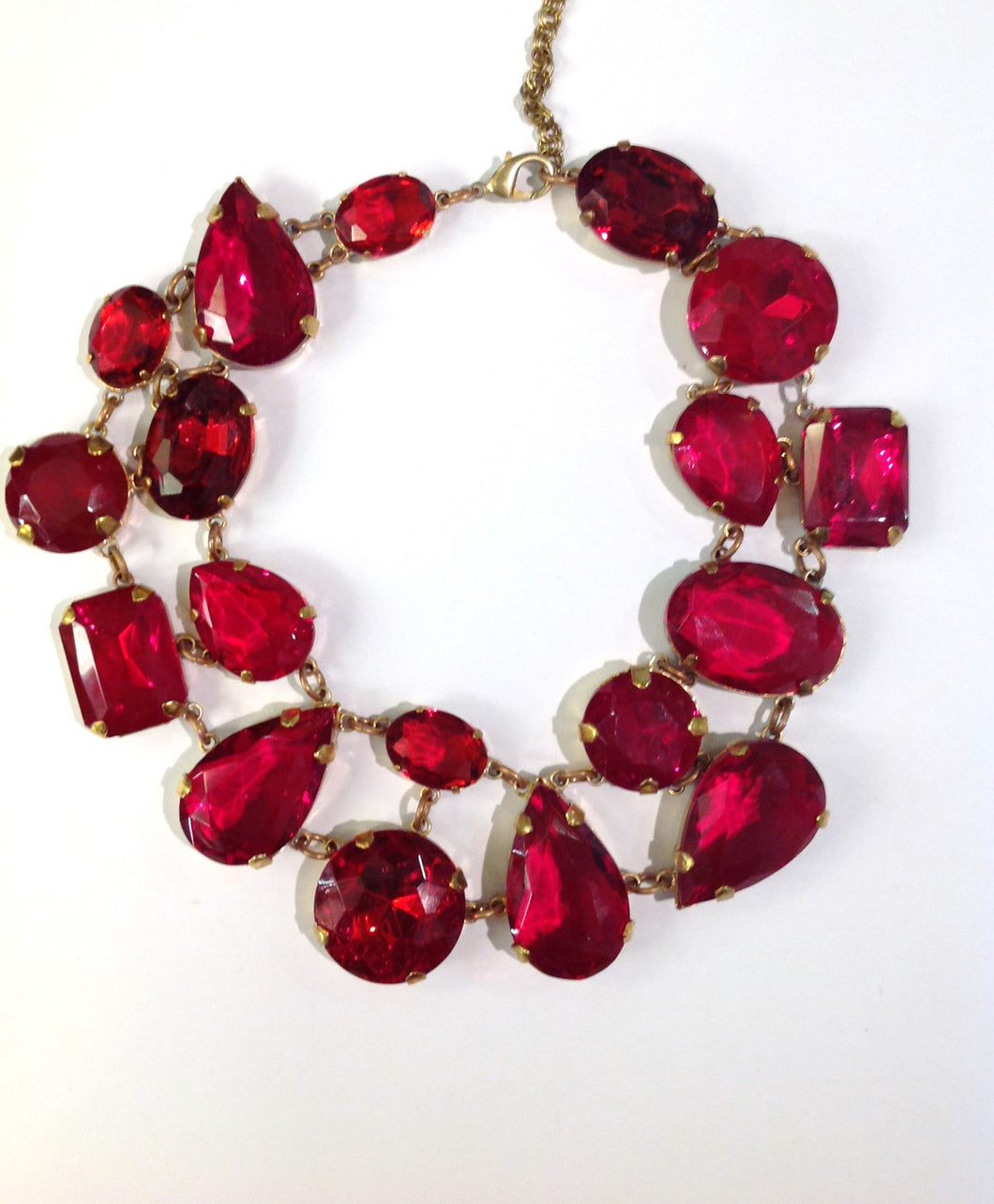 Large   Ruby Red Crystal Collar