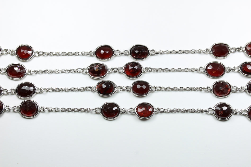 Sterling Silver Garnet Necklace