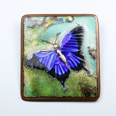 Antique Allen Heywood Enamel Butterfly Brooch