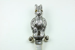 Sterling Silver Mother Of Pearl Rabbit Rattle