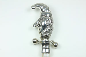 Sterling Silver Mother Of Pearl Jester Rattle