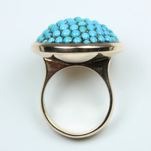 Rose Gold Round Turquoise Ring